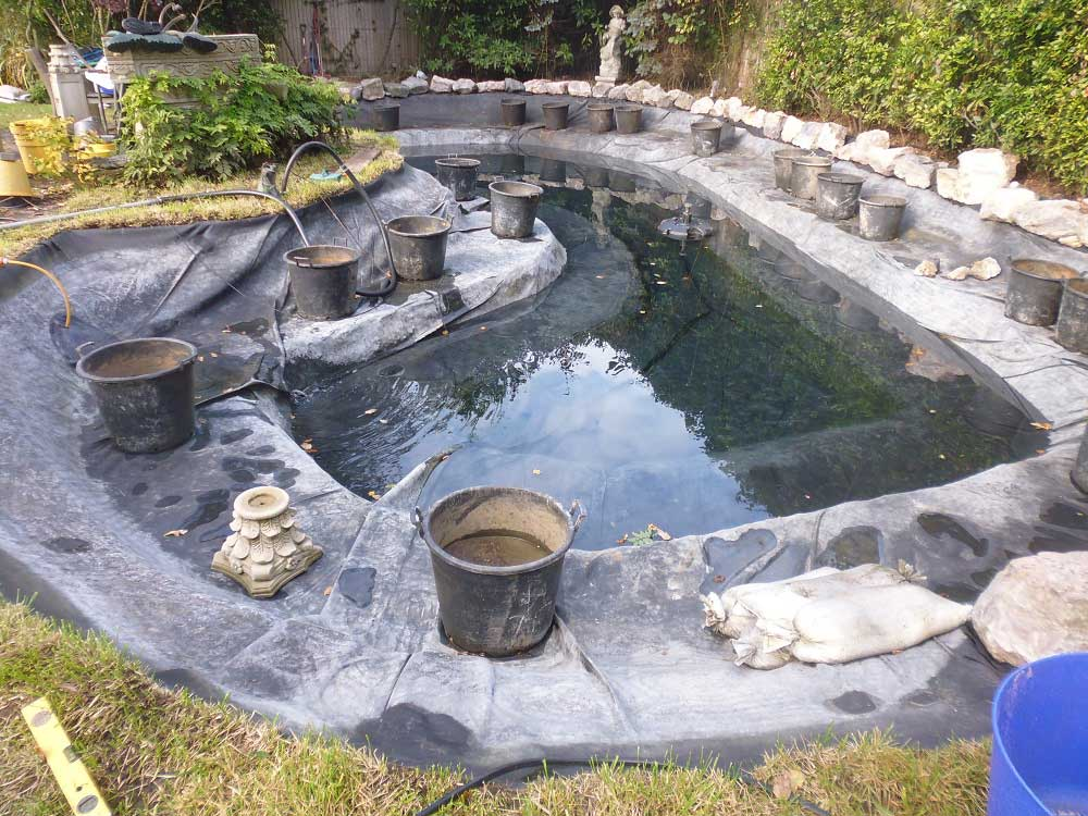 Pond repairs Surrey
